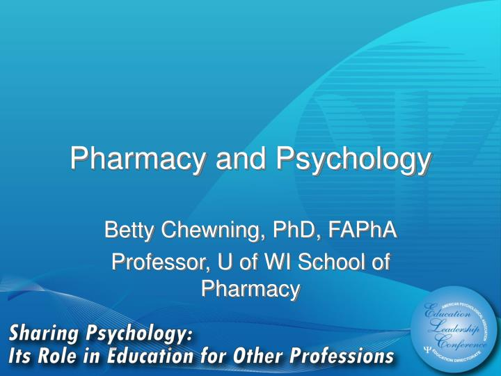 pharmacy and psychology n.