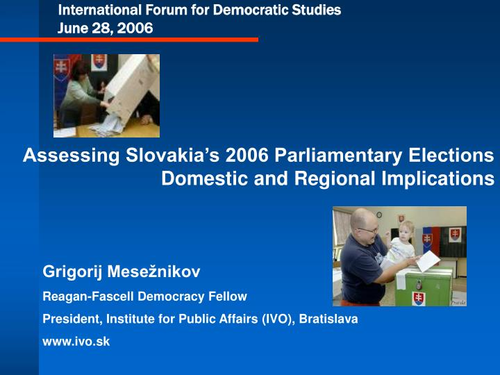 international forum for democratic studies june 28 2006 n.