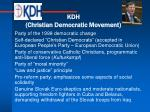 kdh christian democratic movement