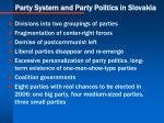 party system and party politics in slovakia
