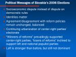 political messages of slovakia s 2006 elections