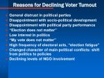 reasons for declining voter turnout