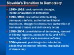 slovakia s transition to democracy