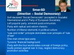 smer sd direction social democracy