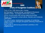 smk party of hungarian coalition