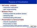 purpose of visualization
