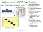 architecture ucats functionality