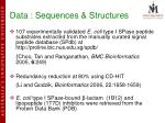 data sequences structures