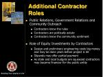 additional contractor roles