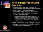 key findings policies and practices