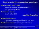 restructuring the organization structure