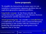 some proposals
