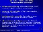 ue rules 1228 june 2003 for cross border exchanges