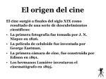 el origen del cine