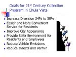 goals for 21 st century collection program in chula vista