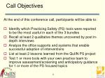 call objectives
