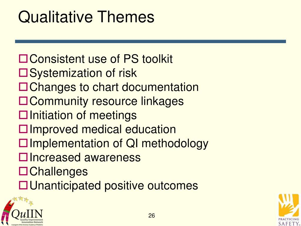 Qualitative Themes