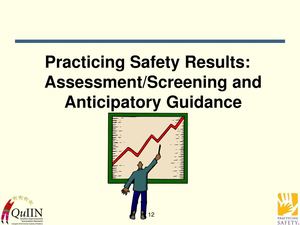 Practicing Safety Results: Assessment/Screening and Anticipatory Guidance