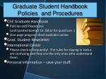 graduate student handbook policies and procedures