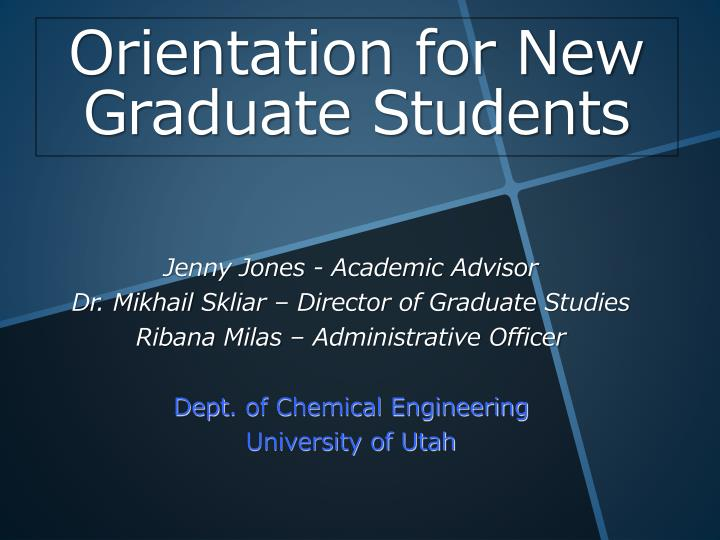 orientation for new graduate students n.