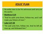 jesus plan