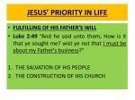 jesus priority in life1