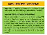 jesus program for church