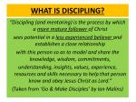 what is discipling