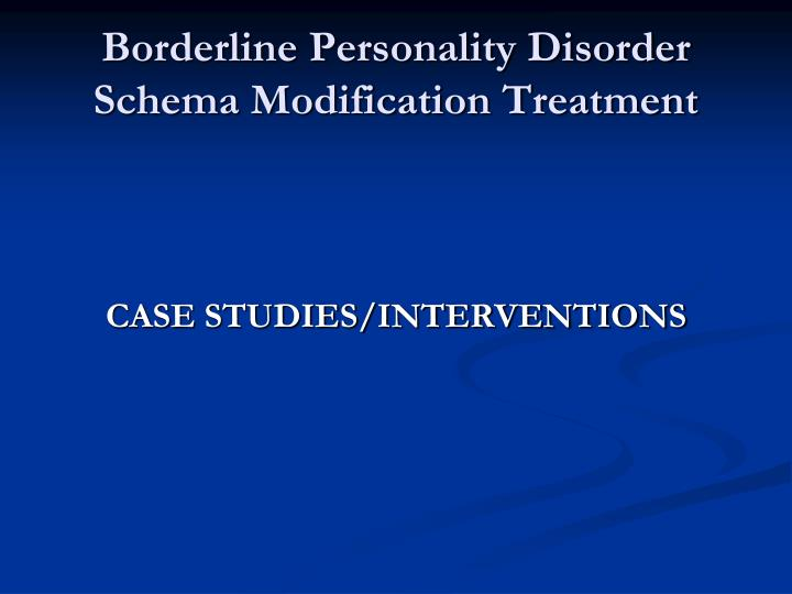 borderline personality case study