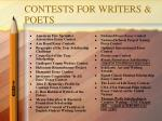contests for writers poets