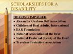 scholarships for a disability