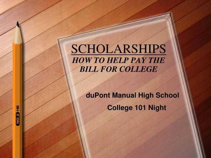 scholarships how to help pay the bill for college n.