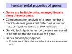fundamental properties of genes