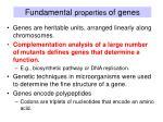 fundamental properties of genes1