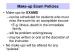 make up exam policies