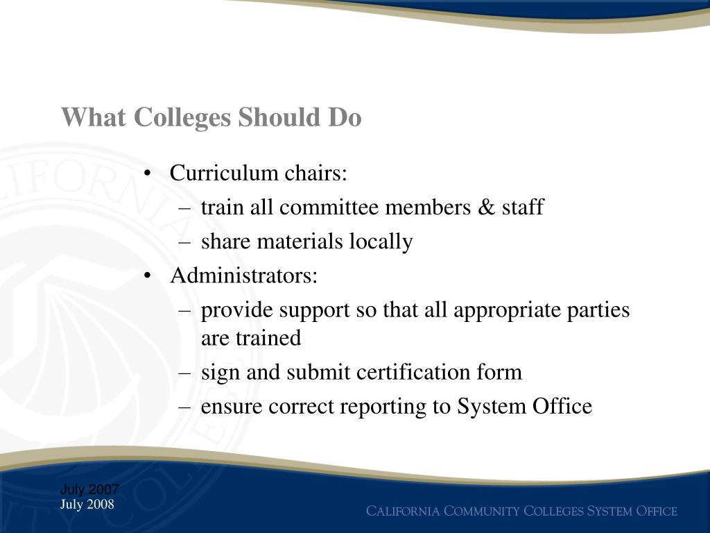 What Colleges Should Do