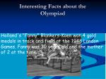 interesting facts about the olympiad1
