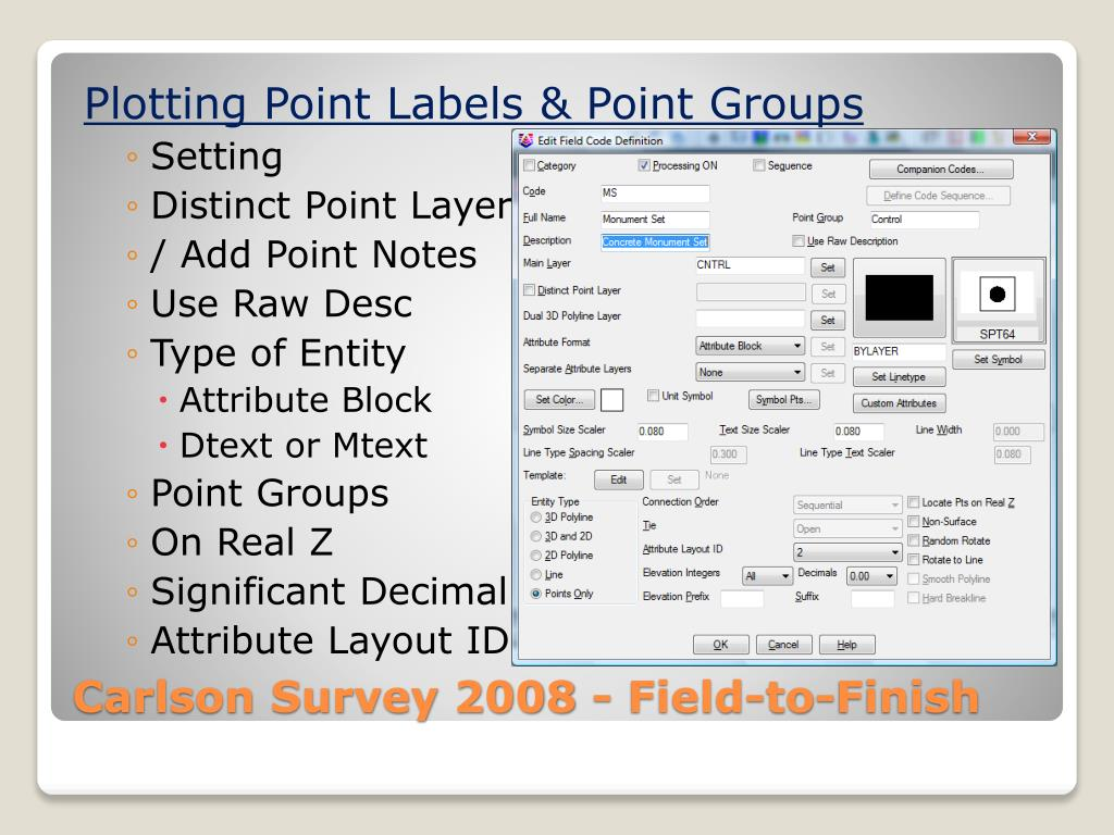 Plotting Point Labels & Point Groups
