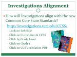 investigations alignment