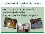 mathematical practices picture sort