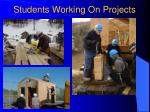 students working on projects