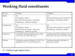working fluid constituents
