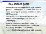 key science goals