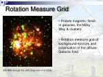 rotation measure grid