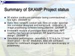 summary of skamp project status