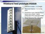 wideband feed prototype module