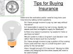 tips for buying insurance