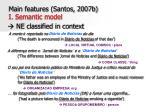 main features santos 2007b i semantic model