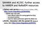 sahara and ac dc further access to harem and rerelem resources