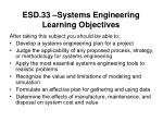 esd 33 systems engineering learning objectives